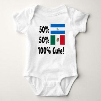 50% Nicaraguan 50% Mexican 100% Cute Baby Bodysuit