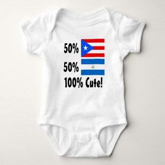 50% Nicaraguan 50% Puerto Rican 100% Cute Baby Bodysuit