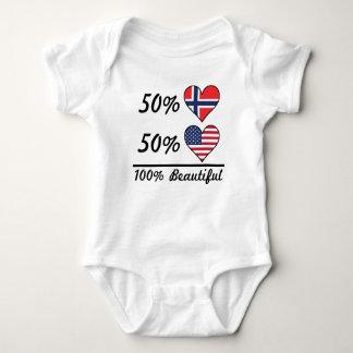 50% Norwegian 50% American 100% Beautiful Baby Bodysuit