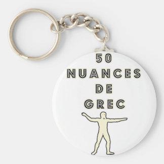 50 NUANCES OF GREEK - Word games - François City Basic Round Button Keychain