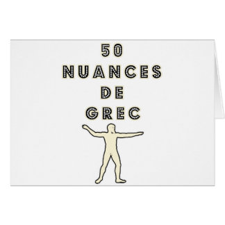 50 NUANCES OF GREEK - Word games - François City Card