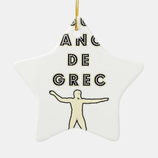 50 NUANCES OF GREEK - Word games - François City Ceramic Ornament