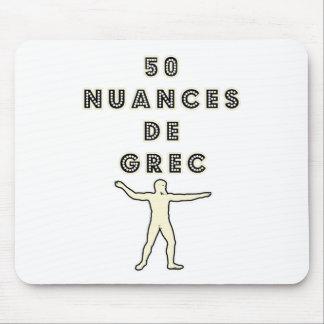50 NUANCES OF GREEK - Word games - François City Mouse Pad