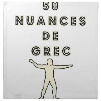 50 NUANCES OF GREEK - Word games - François City Napkin