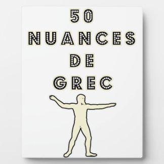 50 NUANCES OF GREEK - Word games - François City Plaque
