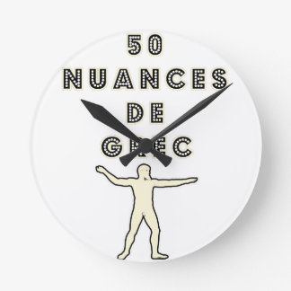 50 NUANCES OF GREEK - Word games - François City Round Clock
