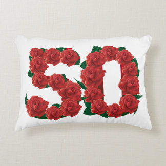 50  number 50th birthday anniversary Accent Pillow