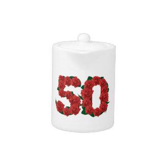 50 number 50th birthday wedding anniversary roses