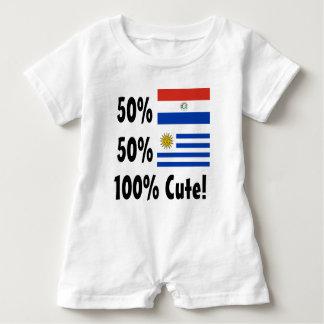 50% Paraguayan 50% Uruguayan 100% Cute Baby Romper