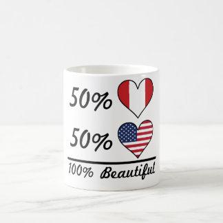 50% Peruvian 50% American 100% Beautiful Coffee Mug