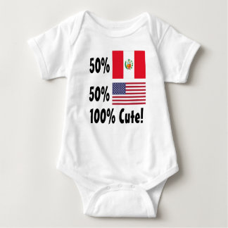 50% Peruvian 50% American 100% Cute Baby Bodysuit