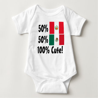 50% Peruvian 50% Mexican 100% Cute Baby Bodysuit