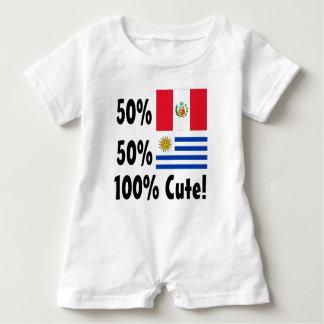 50% Peruvian 50% Uruguayan 100% Cute Baby Romper
