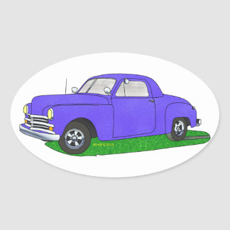 50 Plymouth Business coupe Oval Sticker