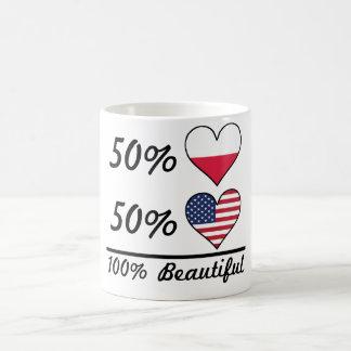 50% Polish 50% American 100% Beautiful Coffee Mug