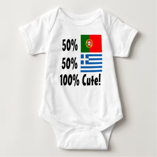 50% Portuguese 50% Greek 100% Cute Baby Bodysuit
