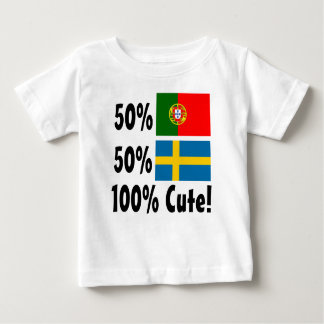 50% Portuguese 50% Swedish 100% Cute Baby T-Shirt
