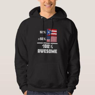 50% Puerto Rican 50% American 100% Awesome Hoodie