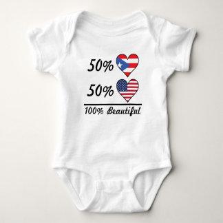 50% Puerto Rican 50% American 100% Beautiful Baby Bodysuit