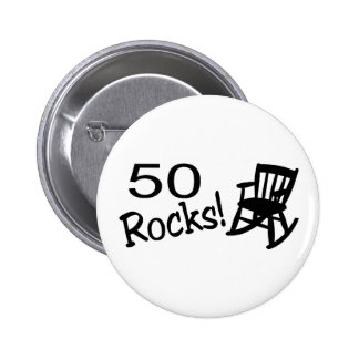 50 roches (balancier) badges avec agrafe