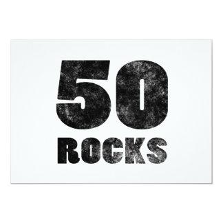 """50 Rocks 5"""" X 7"""" Invitation Card"""