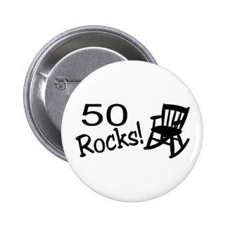 50 Rocks (Rocker) Pinback Button