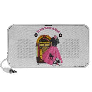 50 s I Love Rock Roll Doodle Speaker