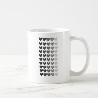 50 Shades Of Grey Heart Shapes Basic White Mug