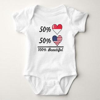 50% Singaporean 50% American 100% Beautiful Baby Bodysuit
