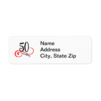 50 Something Custom Return Address Label