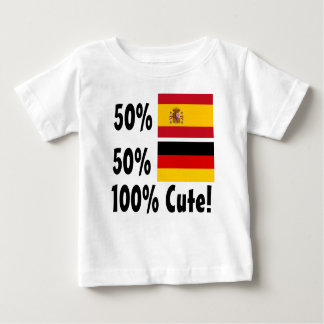 50% Spanish 50% German 100% Cute Baby T-Shirt