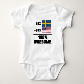 50% Swedish 50% American 100% Awesome Baby Bodysuit