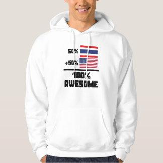 50% Thai 50% American 100% Awesome Hoodie