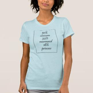 50% unicorn, 32% mermaid, 18% princess T-shirt