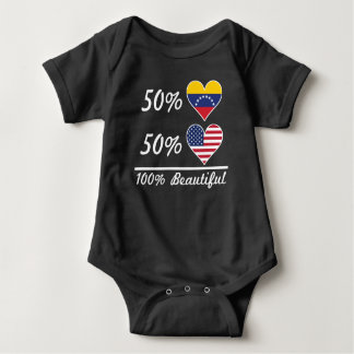 50% Venezuelan 50% American 100% Beautiful Baby Bodysuit