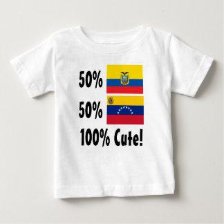50% Venezuelan 50% Ecudorian 100% Cute Baby T-Shirt