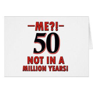 50 year birthday designs greeting card