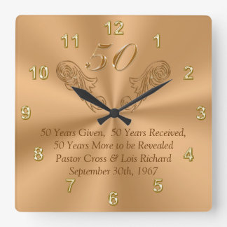 50 Year Celebration Clock with Your Text or Delete