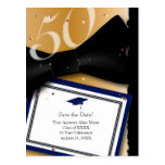 50 Year Class Reunion Save the Date BLUE Postcards