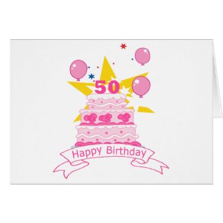 50 Year Old Birthday Cake Cards