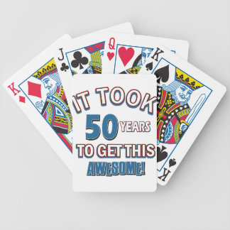 50 year old birthday designs bicycle playing cards