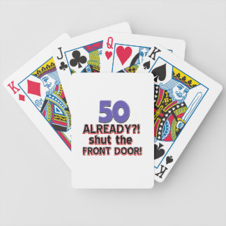 50 year old birthday gifts bicycle playing cards