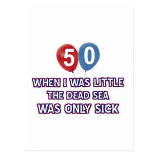 50 year old dead sea birthday designs postcards