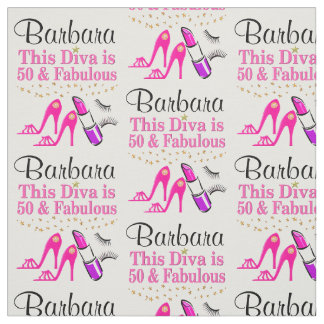 50 YEAR OLD DIVA PERSONALIZED FABRIC