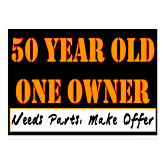 50 Year Old, One Owner - Needs Parts, Make Offer Postcard