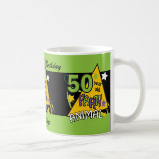 50 Year Old Party Animal | 50th Birthday Classic White Coffee Mug