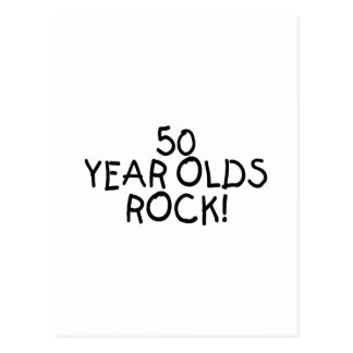50 Year Olds Rock Postcard
