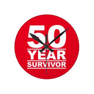 50 year survivor round clock