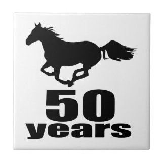 50 Years Birthday Designs Ceramic Tiles