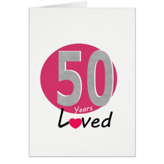 50 Years full of love  Greeting Card